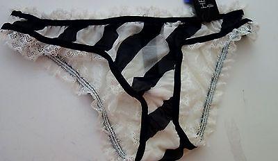 Heidi Klum Amour Perdu Eclipse Retro Cream Bikini Panty M Nwt Msrp  55
