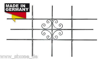 Fenstergitter LUNA Einbruchschutz Passgitter feuerverzinkt 1140 x 690 mm