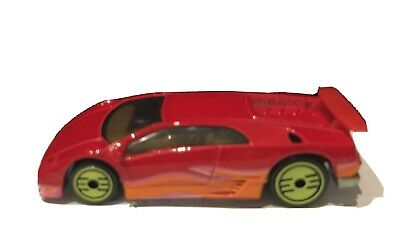 HOT WHEELS REVEALERS Red Sports Car w/Green Wheels 1:64 Scale 1992 Malaysia
