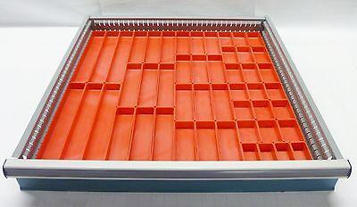 """49 Schaller Red Plastic Boxes fit Lista Vidmar & Lyon 1"""" ht Drawer Bin Cups"""
