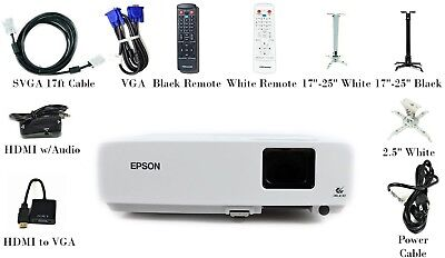 Epson PowerLite 83+ LCD Projector 2200 ANSI HD 1080i HDMI w/Adapter