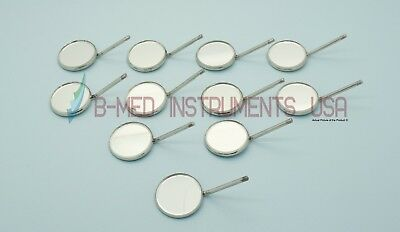Pack Of 12 Dental Mouth Mirror 5 Simple Stem Diagnostic Dental Instruments