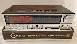NOS NEW Old Stock Vintage Retro Cosmo CR2007N AM FM Tuner Alarm Clock Radio NIP