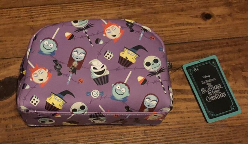 DISNEY NIGHTMARE BEFORE CHRISTMAS CANDY POP CUPCAKE POUCH MAKUP BAG