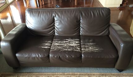 3 seater faux leather sofa with 2 arm chairs Toowoomba 4350 Toowoomba City Preview