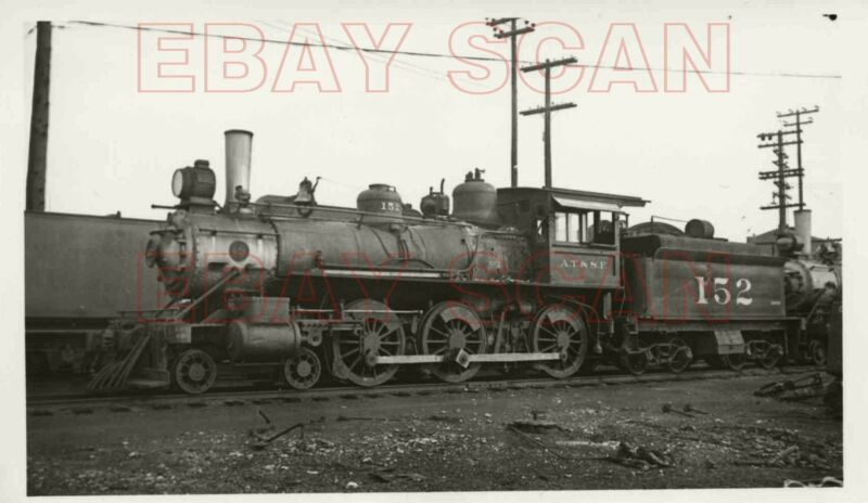 8F512 RP 1934/50s AT&SF SANTA FE RAILROAD 4-6-0 LOCO #152 TOPEKA KS