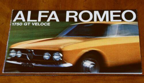 Alfa Romeo 1750 GT Veloce US brochure Prospekt, 1967