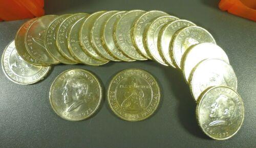1973 PARAGUAY 300 GUARANIES SILVER CROWN COIN GEM BU