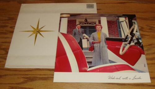 1957 Lincoln Premiere VIP Deluxe Sales Brochure Mailer w/ Envelope Convertible