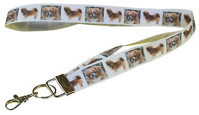 Tibetan Spaniel Breed of Dog Lanyard Key Card Holder Perfect Gift