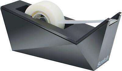 Scotch Desktop Tape Dispenser Facet Design Metallic Black Finish C17-mb-0