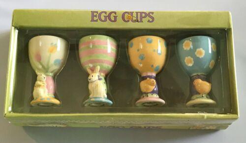 Set of (4) Debbie Mumm 2002 Spring Easter Egg Cups