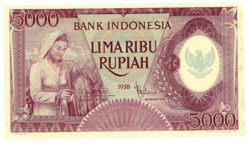 Indonesia  ... P-64 ... 5000 Rupiah ... 1958 ... (~): *UNC*