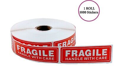 Fragile - Handle With Care Stickers 1x3 1000 Per Roll