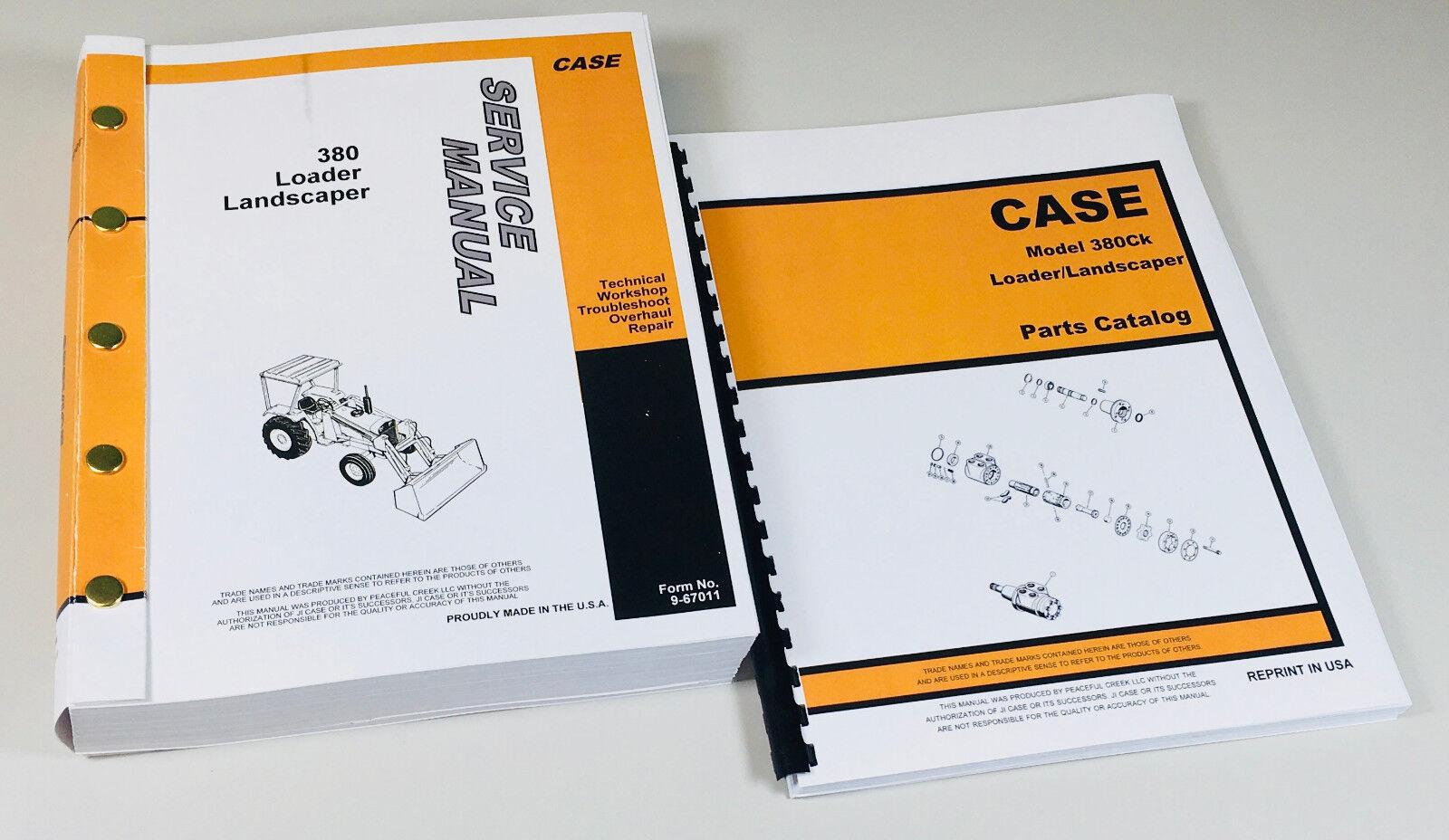 Case Model 380CK Loader//Landscaper Parts Manual