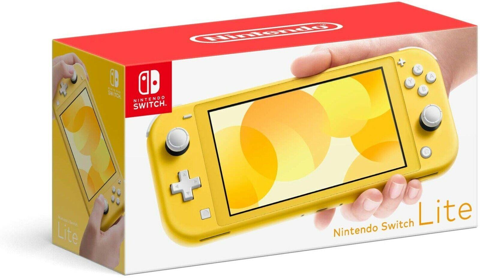 NINTENDO SWITCH LITE Yellow Handheld Video Game Console USA Model ~ BRAND NEW