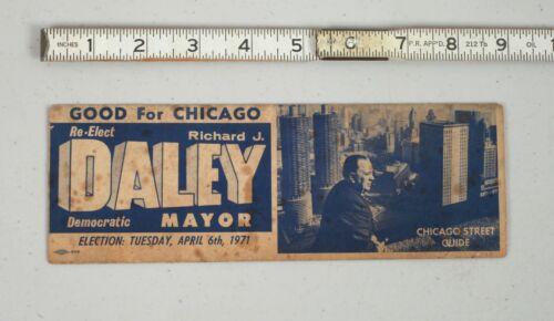 Vintage 1971 Campaign Brochure Chicago Mayor Richard J. Daley Street Guide