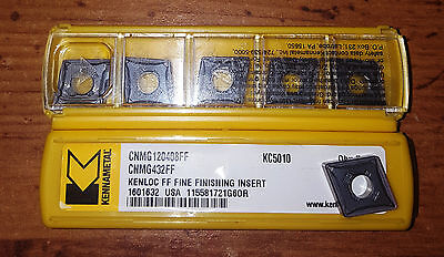 New Kennametal Cnmg432ffcnmg120408ff Kc5010 Factory Pack Of 10 Inserts