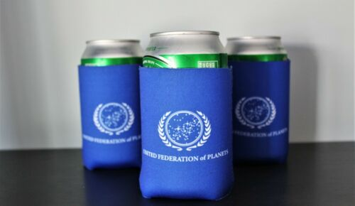Set of 3 Star Trek United Federation of Planets Neoprene Beer Can Holder 3x New