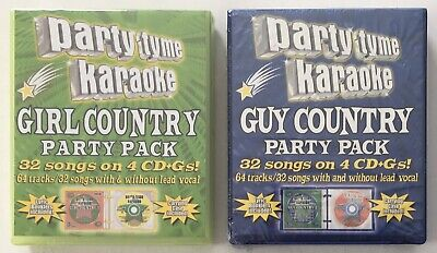 Party Tyme Karaoke Girl and Guy Country Party Packs - 64 Total Songs on 8 CD+Gs segunda mano  Embacar hacia Argentina