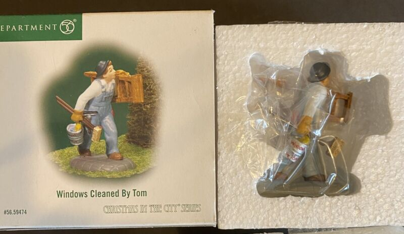 DEPT 56 WINDOWS CLEANED BY TOM CHRISTMAS IN THE CITY ACCESSORY 59474  NEW