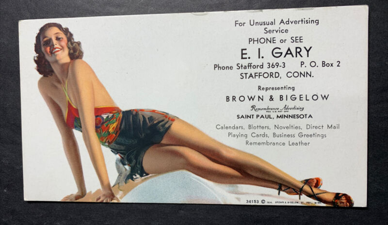 Rolf Armstrong Pin Up Girl Advertising Blotter Mini Sign Flapper Girl Stafford C