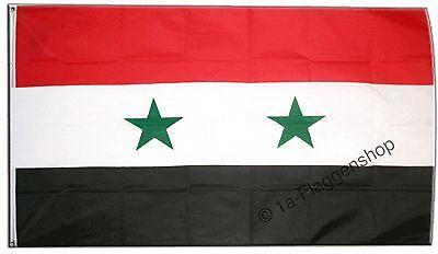 SYRIEN Hissflagge SYRISCHE Fahnen Flaggen 90x150cm
