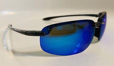 🔥Limited Time SALE🔥 Maui Jim HOOKIPA Sport Sunglasses MJ B407-11 Blue / (Maui Jim Hookipa)