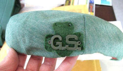 1956 Official ADULT Uniform Hat Girl Scouts Beret EUC GS-Trefoil Halloween Price
