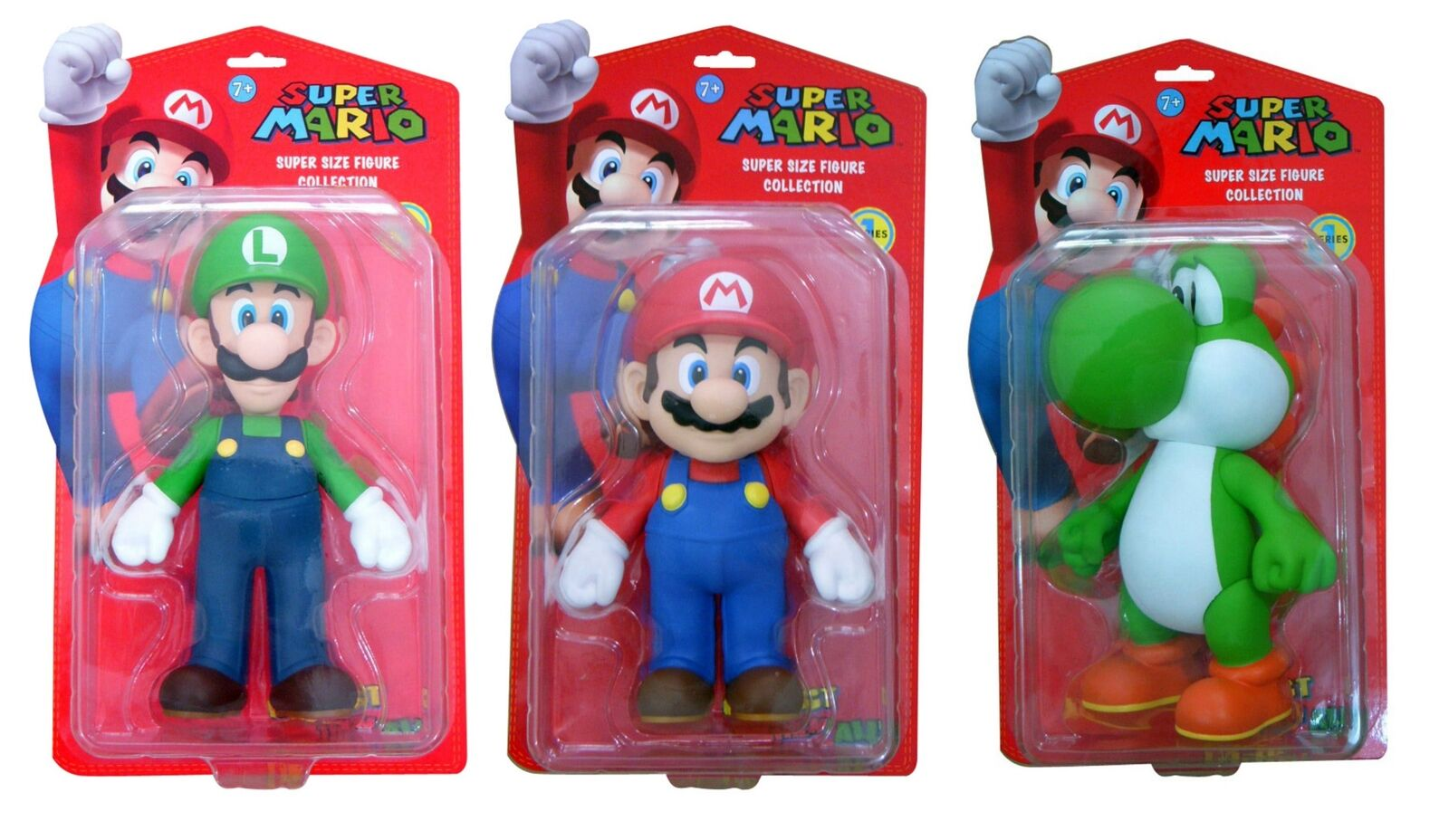 Super Size Mario Luigi And Yoshi Action Figures Collection