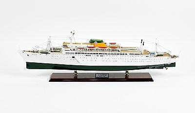 "SS Argentina Ocean Liner Handmade Wooden Ship Model 37.5"" Scale 1:200"