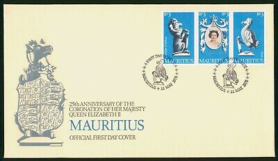 Mayfairstamps Mauritius FDC 1978 25th Anniv Coronation Queen Eliz II Combo First