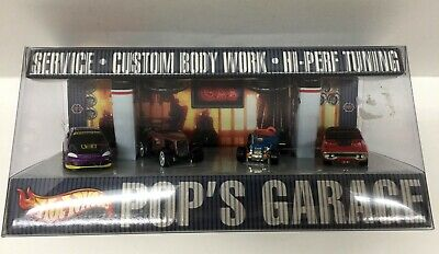 Hot Wheels Pop's Garage 1:64 Scale Limited Edition 4-Pack NEW Set of 4 Cars 2001