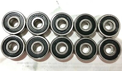 Lot Of 10 Pcs 6200-2rs Rubber Sealed Ball Bearing 10x30x9