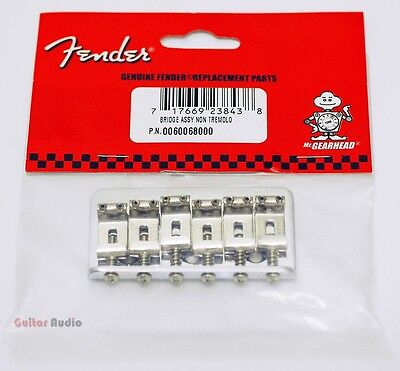 Genuine Fender Telecaster/Tele OR Stratocaster/Strat Hardtail Bridge Assembly on Rummage
