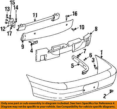 Cadillac GM OEM 00-01 Catera Rear Bumper-Cover 9131963