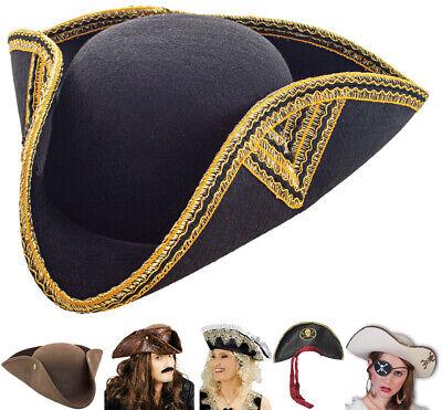 Piratenhut Dreispitz für Erwachsene Auswahl Seeräuber Piratin Totenkopf Karneval
