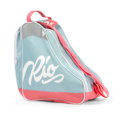 Rio Roller - Script Skate Bag - Teal/Coral - Roller Skate Carry Bag