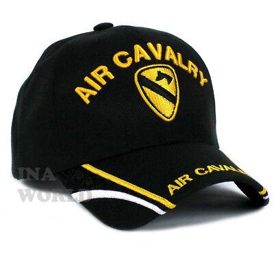 "U.S. ARMY hat AIR CAVALRY ""First Team"" Military Licensed Baseball cap- Black"