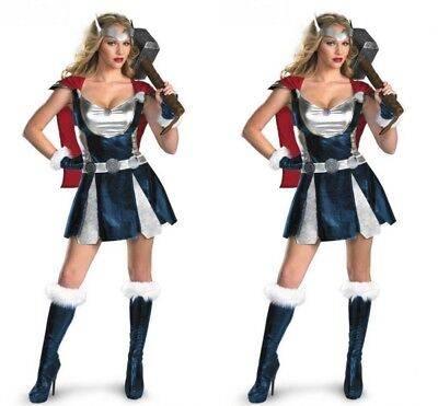 American Thor ThorGirl Halloween Super Heroes Female Cosplay Uniforms Costumes