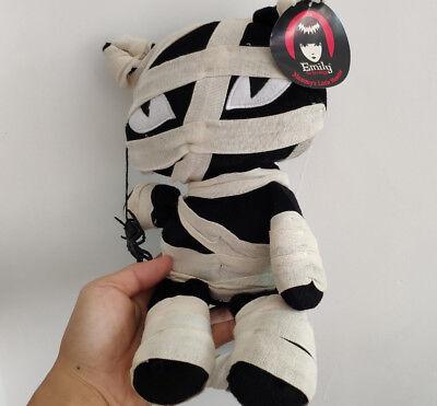 New Emily the Strange 12inch Mummy Cat Black Cat Stuffed plush toy doll Hallowee](Disney Hallowee)