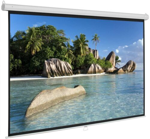 """5 Core PULL DOWN PROJECTOR Projection Screen 84"""" INCH 8K 3D Ultra HD 16:9 M-84"""