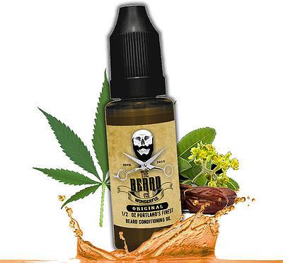Best Beard Oil for Growth Natural Jojoba & Hemp 1/2 Oz Bottle (15ml) Lo-Scent