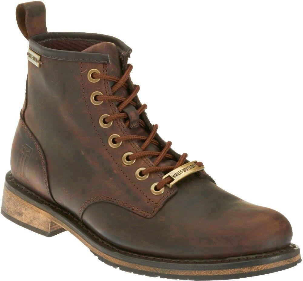 HARLEY-DAVIDSON FOOTWEAR Men's Darrol Black Label Brown Leat