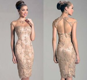Champagne Mother of the Bride Outfits/Dress Wedding Guest ...