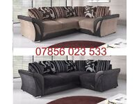 liberty Fabric leather corner sofa brand new left or right black grey brown beige also cuddle chair