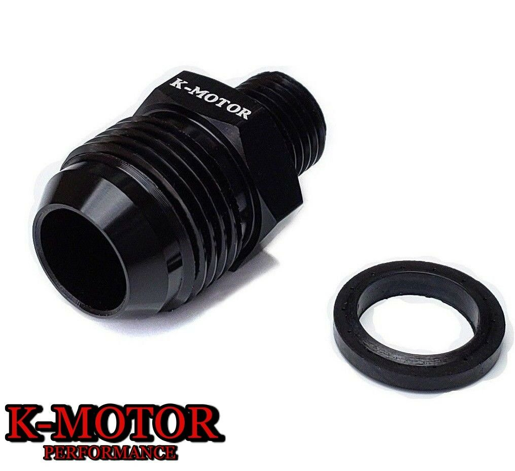 K-MOTOR HONDA S2000 AN10 OIL CATCH CAN FITTING PCV VALVE DELETE BREATHER ADAPTER