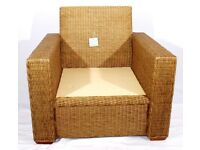Rattan Cane conservatory chairs for your garden or summer house furniture. No cushions