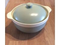 Green casserole dish with lid brand new unused