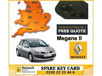 Replacement Renault Megane, Scenic Laguna Espace Clio Key Cards All Keys Lost Call 0330 2233446
